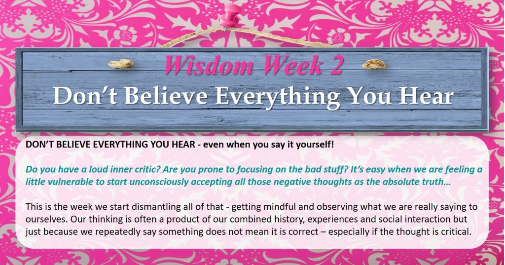 Wisdom Room Week 2
